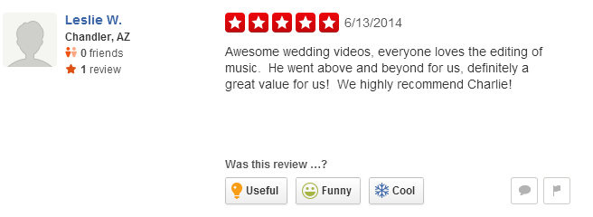 Wedding Videographer Los Angeles Reviews