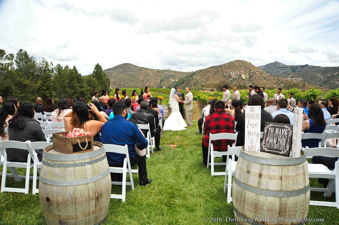 Affordable winery wedding