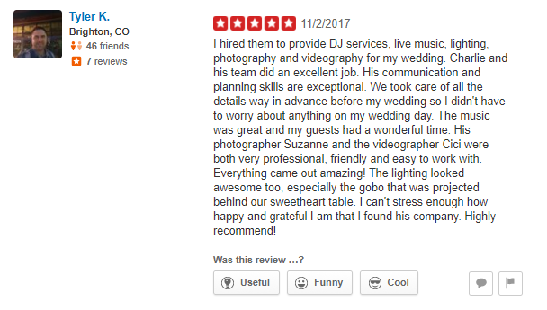 Riverside Wedding Videographer Reviews